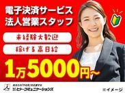 高日給1万5000円★電子決済サービスのご案内!
