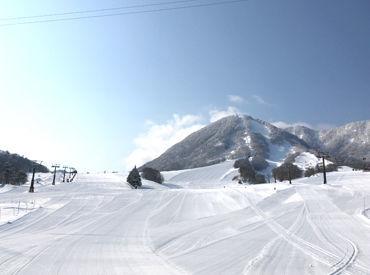 他のスキー場に比べると、STAFFの年齢層が高め! わいわいしすぎてなくて落ち着いて勤務できます◎