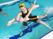 水泳が得意な方、レッスンコーチの経験がある方!スグに活躍できる職場です★女性スタッフも活躍中♪