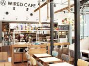 品川駅港南口より徒歩6分。若者に絶大な支持を誇る『WIRED CAFE』でNEW STAFF募集。(全時間帯で大募集!)