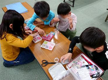 子どもたちと一緒に積み木をしたり、校庭で遊んだり♪* 可愛い笑顔に囲まれて、楽しく働けますよ◎