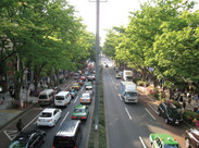 原宿駅から徒歩2分の好立地!!オフィスが高台にあるので、ベランダからは原宿、表参道を一望できます◎