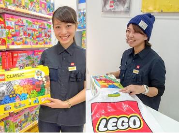 【レゴ(R)SHOPスタッフ】+☆子どもの笑顔とおもちゃに囲まれて☆。+未経験OK!時間をかけてゆっくり1人前に♪販売/レゴブロックでディスプレイ作り等◎