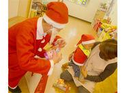 シーズンごとのイベントもあります◎クリスマスには、お子様のもとにサンタクローズがやってきます…♪