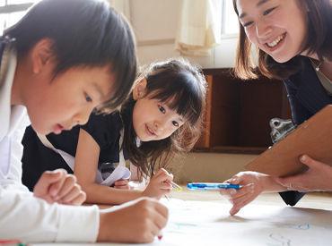 特別な資格や経験は不要♪ 子ども達の笑顔がやりがいの一つ◎ やる気スイッチグループで働きませんか? ※写真はイメージです。