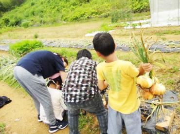 自然とふれあったり、工作をしたり♪ Staffも子ども達と一緒に楽しむことで 自然と仲良くなれ、笑顔もたくさん見せてくれます◎