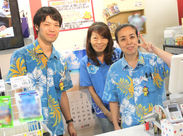 沖縄の「かりゆしウェア」が制服♪ 主婦さん・フリーターさんなど幅広く活躍されています。