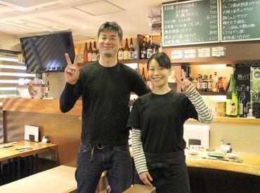 鮮魚と地酒が自慢の和食居酒屋◎ スタッフ3~4人で、きりもりできる店内は のんびり落ち着ける空気がただよっています♪