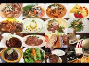 ハンバーグ/オムライス/エビフライ..etc こちらはまかないの料理! 定番メニューから裏メニューまで お好きな物が食べられます◎