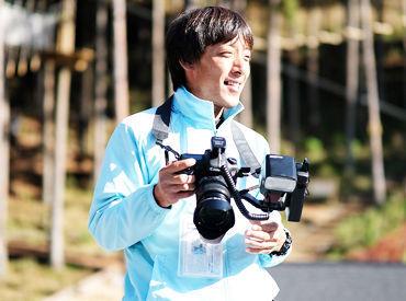 ≪カメラ未経験の方も大歓迎◎≫ お客様の最高の笑顔を引き出そう! 思い出作りをお手伝いできる、やりがいあるお仕事です★