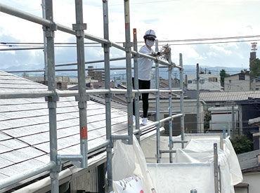 塗装や防水工事のお仕事!未経験スタートもしっかりフォローしますよ◎週1日~希望の日数で働けます!