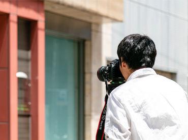 セッティングから片付け・フォトレタッチなどのカメラや写真に関するスキル全般が身につく仕事です◎ 未経験スタートも大歓迎★