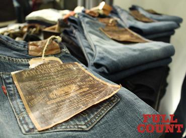 \ファッション好きに有名なFULLCOUNT/ 気に入ったアイテムは社割で購入OK♪ヒゲ・ピアス等も自由★あなたらしく働けます◎