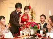 披露宴会場は全部で5つ♪それぞれ違った雰囲気が楽しめます◎ ゲストや新郎新婦の笑顔に、こちらもHAPPYになれますよ!!