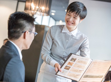 【調理・接客STAFF】ホテル内オシャレレストラン☆マナーも1から学べる大チャンス♪アットホームで働きやすい長く安定して続けられる職場です!!