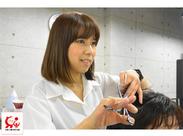 """≪30~40代が活躍中★≫""""美容師免許を活かしたいけど、長時間勤務は厳しいかな""""そんな方でも働きやすい職場です◎"""
