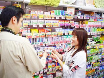 医薬品コーナーでの商品の陳列や補充、お客様対応などをお任せします。わからないことはインカムで聞いてすぐ解決できます◎