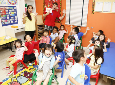 音楽やアート、ダンスなどを取り入れた、 全身を使って楽しく学べるレッスン◎ 元気な声と笑顔があふれる教室です♪