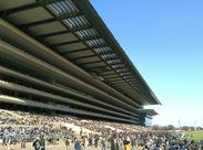 東京競馬場開催日だけ!特別感いっぱいのレアなお仕事です★たくさんのお客様で賑わう、競馬場内で働こう♪