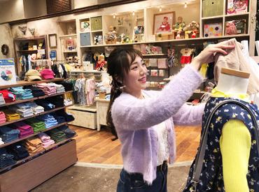 【子ども服販売・商品管理】\\無理なくサクッと働こう//「アパレル=ノルマ&接客」のイメージがガラッと変わりますよ♪♪>>可愛い洋服に毎日HAPPY☆