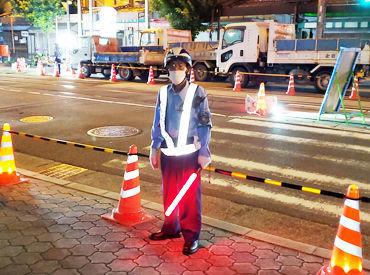 道路・建築工事の現場や駐車場などで車の誘導をお任せ♪未経験者さん大歓迎です!