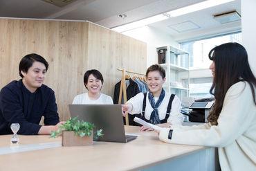 おしゃれなオフィスにフラットな雰囲気♪ 快適な環境で仕事ができちゃう★
