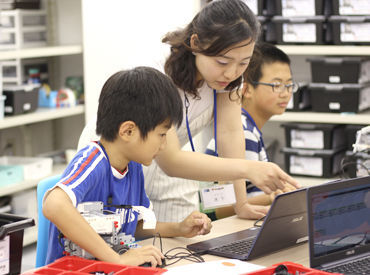 学歴・経歴不問◎子どもが好きな方、プログラミングに興味がある方大歓迎♪
