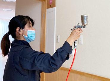 お部屋をシュシュッと消毒♪ 単純作業が多いから難しいことはありませんよ!