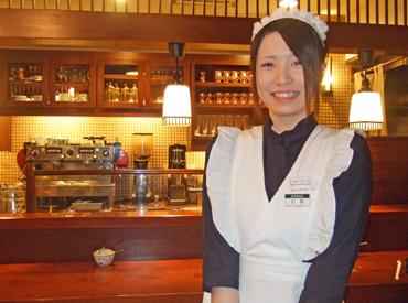 【CafeStaff】週2/2h~選べるシフト☆コーヒーはもちろん、制服とインテリアにもこだわった極上癒し空間♪給与前払いやStaff限定割引あり◎