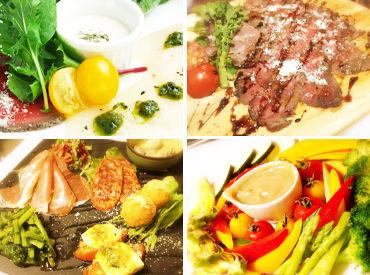 \国産野菜100%!!/ 身体に優しい国産野菜をふんだんに用いたメニュー多数♪ そんな食材を使用したまかないも無料★
