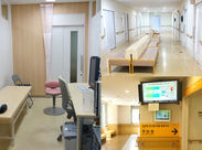 診察室や待合室の様子はこんな感じです◎病院内なので、きれいで落ち着いた空間で働けますよ!