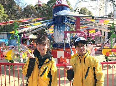 メインの大きな観覧車は、 てっぺんまで登れば 野田市内を一望できるほど◎ 観覧車と一緒に、 子ども達をお迎えしましょう♪
