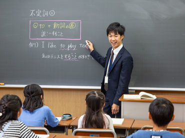 ≪未経験スタート歓迎!≫ 黒板の書き方や指導方法まで 基本から丁寧に教えますよ◎