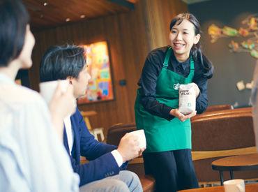 【スターバックスSTAFF (1)バリスタ (2)シフトスーパーバイザー候補】秋田市内・新国道近くのドライブスルー店舗。人に喜んでもらうことが好きな方、きっと活躍できる環境です。