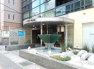 オフィスは逆三角形のオブジェが目印の【ジーテックスアセンドビル】の6Fです。便利な三ノ宮にあるから通勤もラクラク!