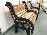 ≪写真に注目!!≫ よく見ると…恐竜の形! こんな可愛いベンチも「マーベルウッド」を使って作ってます♪