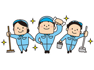 京阪くずはモールの清掃をお任せ♪ 決められた範囲を掃除するので、バタバタと走り回ることはありません☆