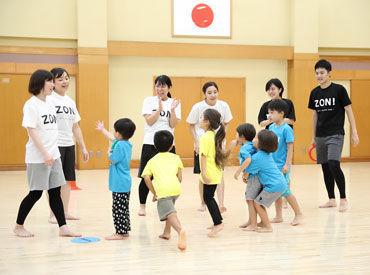 運動を通して、お子様の成長をサポート◎ 子ども達の成長と笑顔が見れて、 やりがいのあるお仕事です♪ 学生さんも大歓迎です!