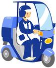 車や原付、徒歩でポスティング♪ 早くお仕事が終わっても、2時間分の給与をお渡しします!