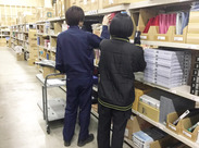 取り扱い商品は、色とりどりの文房具☆ 検品・仕分け・梱包などのカンタンなお仕事です。未経験者歓迎!