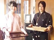 ≪話題の日本料理店♪≫憧れの着物でお仕事を始めよう!二部式なので、カンタンに着ることが出来ますよ◎