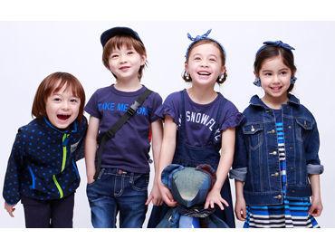 ~2月中旬からゆっくりスタート~ 流山おおたかの森SCで販売スタッフ募集.+* 通販サイトでも人気の子供服ブランドです♪