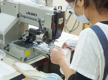 """【ミシン縫製スタッフ】「工業ミシンを使ったことがある!」「専門的な企業で働いていた!」そんな方が""""キラキラ""""と輝ける職場です**"""