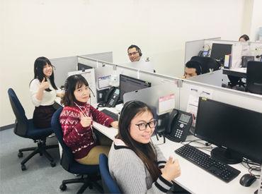 現役の学生や留学生をはじめ、10~40代の幅広い層のスタッフが活躍中! もちろん、学校等で現在勉強中の方も大歓迎です☆