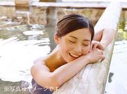 \和倉温泉で冬の短期バイト大募集/ 贅沢な待遇もこのお仕事ならではですよ! お仕事後は温泉で疲れを癒すことも出来ちゃう♪