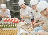 「ケーキ作りの勉強をしたことがある」「甘い物が大好き」 「料理・お菓子作りが趣味」という方大歓迎☆