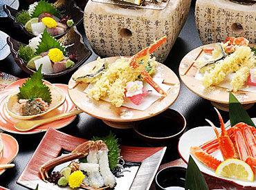 鳥取の旬の食材&四季折々の食材を 使用した料理が人気◎ まかないも美味しいと好評なんです♪
