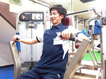 ほとんどのスタッフが未経験スタート☆施設利用も無料で、働きながらトレーニングもできます◎