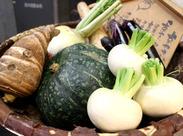 旬の京野菜を使った体に優しいお料理が大人気★スタッフも接方来のメニューが大好きです!