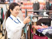 衣料品レジでSTAFF募集!高時給で効率よく稼ぎたい方にも♪ 交通費支給など、充実の待遇にも注目!